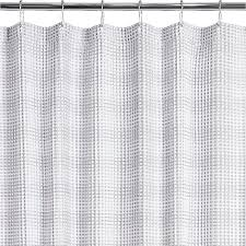 white waffle shower curtain. White And Grey Waffle Weave Shower Curtain In Curtains + Reviews | CB2 I