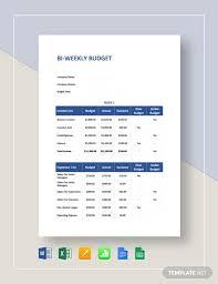 Excel Biweekly Budget Template Free 9 Bi Weekly Budget Examples Samples In Google Docs