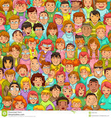 People Pattern Best Cartoon People Pattern Stock Vector Illustration Of Illustration