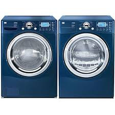 blue washer and dryer. Wonderful Blue LG Frontload Blue Steam Washer And Gas Dryer Combo Refurbished Inside And C