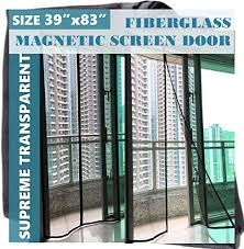 f s luxurious magnetic screen door fiberglass upgraded mosquito bug off screen curtain full frame hook and loop tape mesh insect net size 39x83 for patio