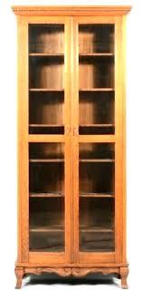 glass door bookshelf with doors bookcase plans tall small antique glass door bookshelf
