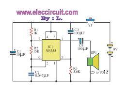 three simple door buzzer circuit eleccircuit com 2 circuit door buzzer