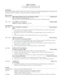 Resume Formats Sample Format Sample Of Resume 8 Resume In Paragraph