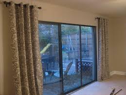 modern sliding glass door curtain ideas