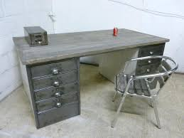 vintage metal office furniture. Vintage Metal Office Furniture Industrial Polished Steel Wood Desk Retro About Me In E