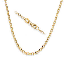 55 cm 21 65 gold chain with spring clasp solid gold pendant chain rollo