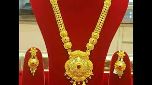 Gold Haar Design With Price Gold Long Necklace Sets All New Collection Ranihaar Designs With Earrings Long Haram Sets