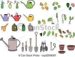 Small Picture Vector Clipart of Set with seeds garden tools and equipment For