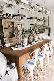 rustic glam farmhouse dining