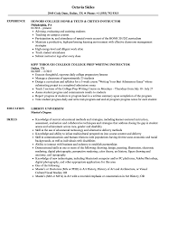 Sample Instructor Resume College Instructor Resume Samples Velvet Jobs 14