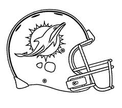 Coloring Pages Football Football Miami Dolphins Coloring Page Miami Dolphins Pinterest