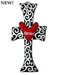 blessed cross now available aluminum screen cross door hangers wooden