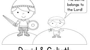 David And Goliath Coloring Pages And Coloring Page David Goliath
