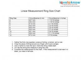 Printable Ring Size Chart Lovetoknow