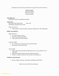 Best Of Entry Level Resume No Experience Template Resume Example
