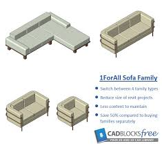 this 1fl sofa revit family this family has 4 switchable families including single