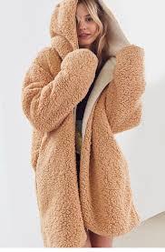 SolId Color Two Side Wearable <b>Women</b> Hooded Oversized Teddy ...