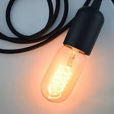 modern metal black pendant light lamp cord w braided cloth cord switch 11 ft