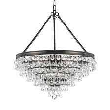 teardrop crystal chandelier calypso 8 light crystal teardrop bronze intended for amazing property teardrop chandelier crystals
