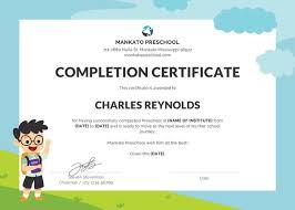 Preschool Certificate Template 16 Free Word Pdf Psd
