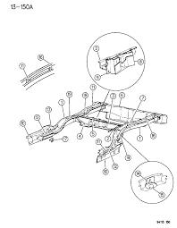 1994 chrysler lebaron sedan frame rear diagram 00000chl