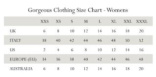 Australian Size Chart Conversion Pants Www