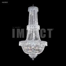 imperial 20 light entry crystal chandelier in silver with imperial crystal clear