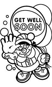 Small Picture Printable Coloring Pages Get Well Soon Coloring Pages