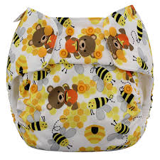 Blueberry Organic One Size Simplex All In One Diaper W Stay Dry Soaker