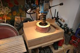 drum sander for drill. drill press drum sander table - foot powered oscillating post for