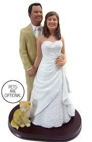 Custom Plus Size Bride Stocky Groom Wedding Cake Topper Style 5