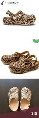 Euc Girls Leopard Print Classic Crocs Size J1 See Size Chart