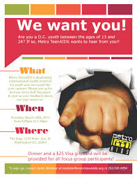 focus group flyers focus group opportunity for dc youth ages 13 24