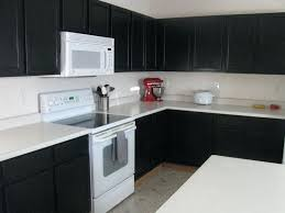 painted black kitchen cabinets before and after. Unforgettable Painted Black Kitchen Cabinets Before And After Painting Oak  Dark Brown