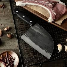 <b>XYj</b> Handmade Forged Chinese Butcher <b>Kitchen Knife</b> High Carbon ...