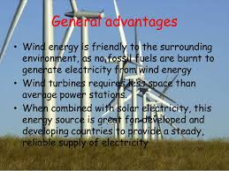 wind energy  13 general advantages • wind energy