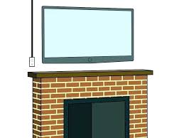 how to hide wires on wall mounting above fireplace hiding wires hide wires in brick wall