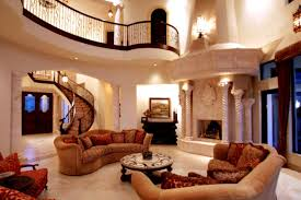 Venetian Style Waterfront Palazzo mediterranean-living-room