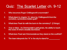 Quiz The Scarlet Letter ch 9 12
