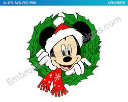 Mickey Mouse With His Head In A Wreath - Mickey Mouse Christmas - Holiday  Disney Character Designs as SVG Vector for Print in 5 formats - DSNYH000580  • World's …   Mickey mouse christmas, Disney christmas, Animated christmas