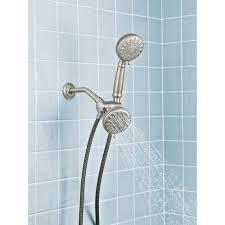 moen dual shower head fresh double massaging hand held combo kit brushed nickel spot resist