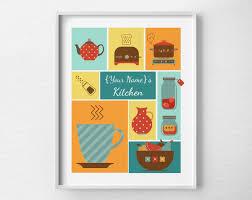 Retro Kitchen Wall Decor Kitchen Art Retro Kitchen Room