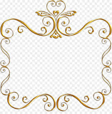 black and gold frame png. Picture Frames Black And White Gold Clip Art - Frame Png