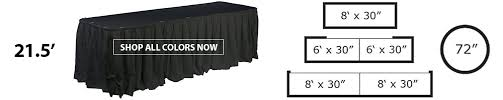 Skirt Length Chart Table Skirt Size Chart Choose The Right Length For Your Table