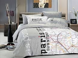 paris map modern teen bedding twin full queen duvet cover set sets grey black white teenage