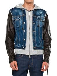 fashion daily dsquared2 angels leather denim vest jacket