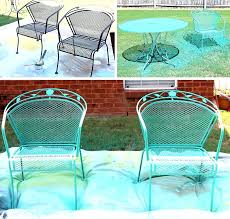 Turquoise Patio Furniture Wrought Iron Outdoor Paint Home Designing