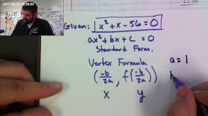 how to find the x intercept y intercepts and the vertex of a quadratic equation