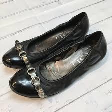 agl attilio giusti leombruni womens black patent leather ballet flats shoes sz 7 4 4 of 9